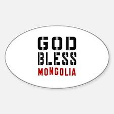 God Bless Mongolia Decal