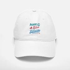 Peace Love Hillary For President Baseball Baseball Baseball Cap