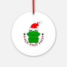 Cartoon Frog Santa Ornament (Round)