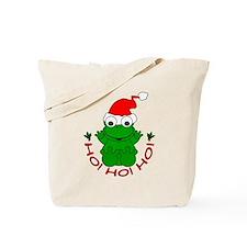 Cartoon Frog Santa Tote Bag