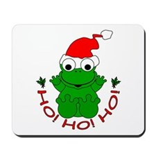Cartoon Frog Santa Mousepad