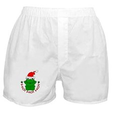 Cartoon Frog Santa Boxer Shorts