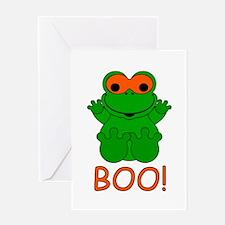 Halloween Frog Greeting Card