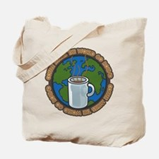 Coffee Makes the World Go Round Tote Bag