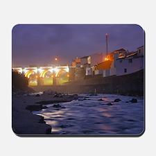Ribeira Grande at night Mousepad