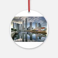 Singapore City Ornament (Round)