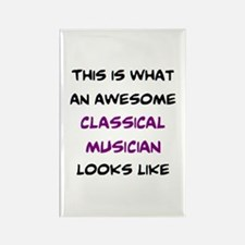 awesome classical musician Rectangle Magnet