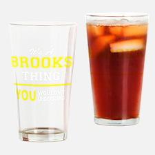 Cool Brooks Drinking Glass