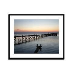 Barnegat Bay Sunset Framed Panel Print