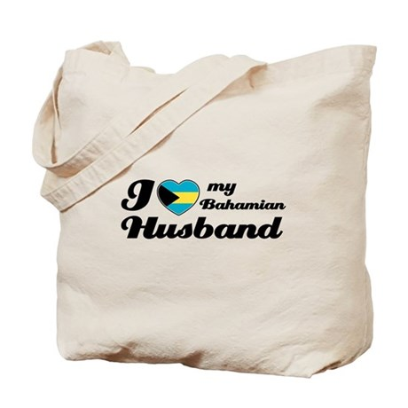 I love my Bahamian Husband Tote Bag