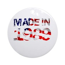 Made In USA 1989 Ornament (Round)