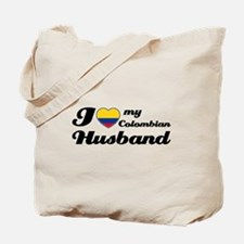 I love my Colombian Husband Tote Bag