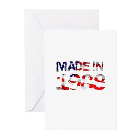 Made In USA 1988 Greeting Cards (Pk of 10)
