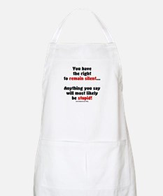 Remain Silent BBQ Apron