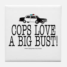 Police Bust Tile Coaster