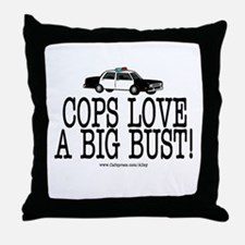 Police Bust Throw Pillow