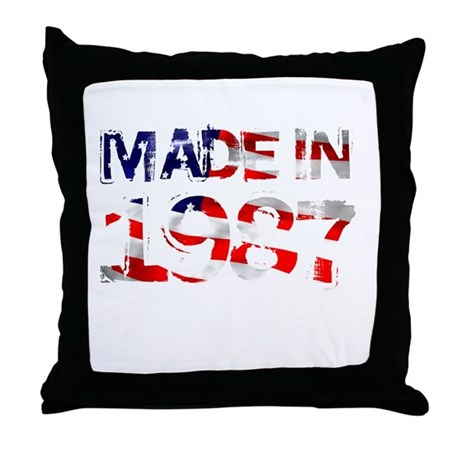 Made In USA 1987 Throw Pillow