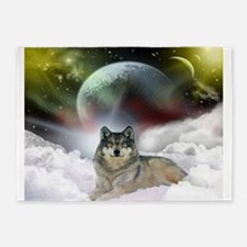 Wolf Cloud 5'x7'Area Rug