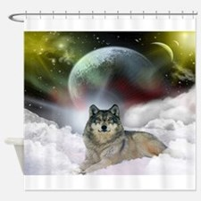 Wolf Cloud Shower Curtain