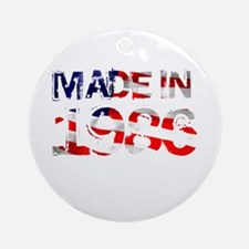 Made In USA 1986 Ornament (Round)