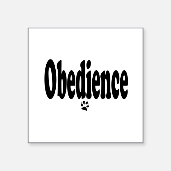 Obedience Oval Sticker