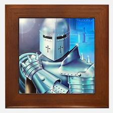Blue Knight Framed Tile