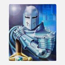 Blue Knight Throw Blanket