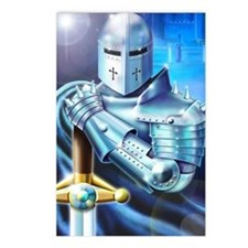 Blue Knight Postcards (Package of 8)