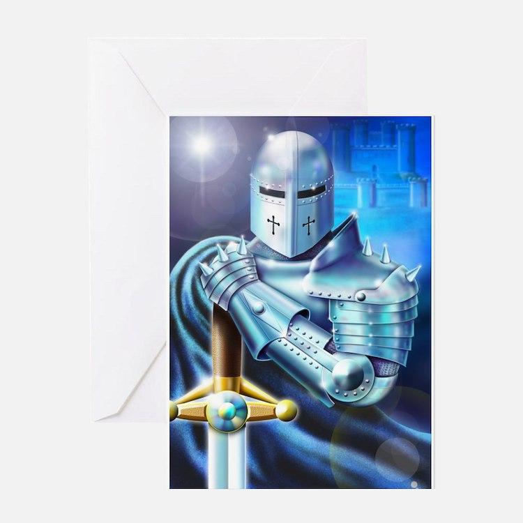 Blue Knight Greeting Card