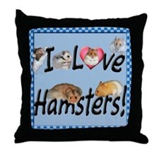 I Love Hamsters #01 Throw Pillow