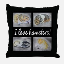 I Love Hamsters #06 Throw Pillow