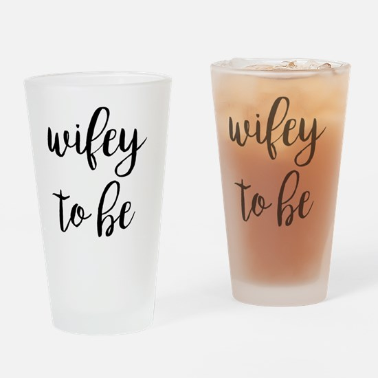 Cute Fiancee Drinking Glass