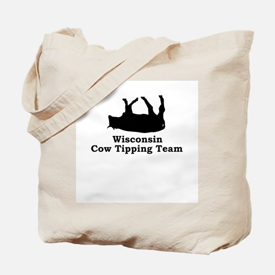 Wisconsin Cow Tipping Tote Bag