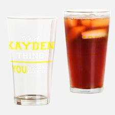 Cute Kayden Drinking Glass