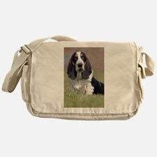 Cute Basset hound Messenger Bag