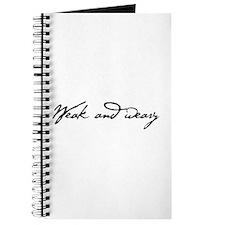 Weak and Weary Journal