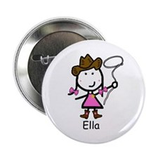"Cowgirl - Ella 2.25"" Button (10 pack)"