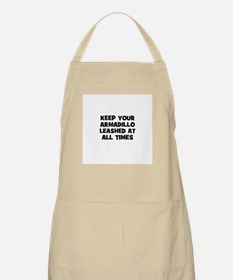 keep your armadillo leashed a BBQ Apron