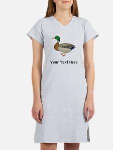 Mallard Duck (Custom) Women's Nightshirt