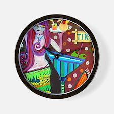 Mermaid Folk Art Heather Galler Wall Clock
