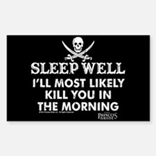 Sleep Well Sticker (rectangle)
