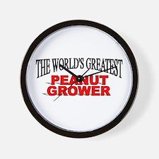 """The World's Greatest Peanut Grower"" Wall Clock"
