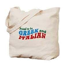 Proud Greek and Italian Tote Bag