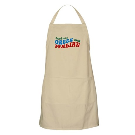 Proud Greek and Italian BBQ Apron