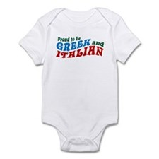 Proud Greek and Italian Infant Bodysuit