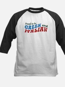 Proud Greek and Italian Kids Baseball Jersey