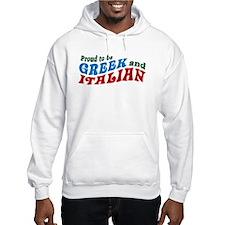 Proud Greek and Italian Hoodie Sweatshirt