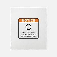 Paladin / Argue Throw Blanket