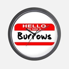 Hello My Name is Burrows Wall Clock