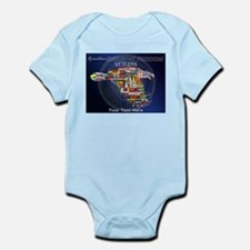 PERSONALIZED ENDURING FREEDOM VETE Infant Bodysuit
